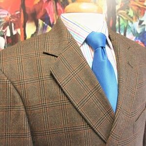 42 R- ALAN FLUSSER 100% WOOL SPORT COAT BROWN